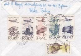 POLAND 1957 Airmail Sc 890-95 Cover - 1944-.... République