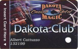 Dakota Magic Casino Hankinson, ND Slot Card - Reverse Text Is 34mm Top To Bottom - Casino Cards