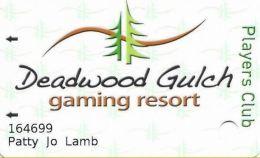 Deadwood Gulch Resort & Gaming Deadwood, SD Slot Card - 02 Over Mag Stripe - Casino Cards
