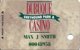 Dubuque Greyhound Park & Casino Dubuque, IA - Slot Card - No Text Over Mag Stripe - Casino Cards