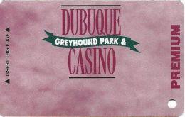 Dubuque Greyhound Park & Casino Dubuque, IA - Slot Card  (BLANK) - Casino Cards