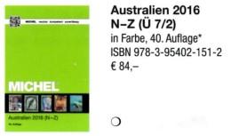 Australien Teil 2 MICHEL Katalog N-Z 2016 Neu 84€ Catalogue Australia Oceanien Zealand Niue Norfolk Palau Tonga Tuvalu - Allemand
