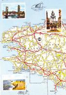 """Le Finistère """"Le Calvaire ST Thégonnec, Pont Levant Brest, Pointe Raz - Carte Michelin 58, Bibendum Sur L'eau - Cartes Géographiques"""