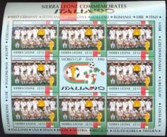 SIERRA LEONE SHEET YUGOSLAVIA FOOTBALL SOCCER WORLD CUP ITALY 90 ITALIA - Copa Mundial