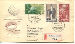 2 RECOMMENDED LETTERS From 1962 From Marianské Lazne To Belgium  - VERY NICE - See Scan - Checoslovaquia