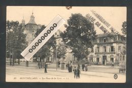 """25 - Montbéliard - Griffe Linéaire """"Commissaire Militaire - Gare De Montbéliard - Marcophilie (Lettres)"""