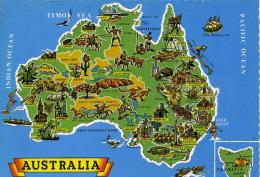 MAP - NUCOLORVUE - AUSTRALIA - Maps