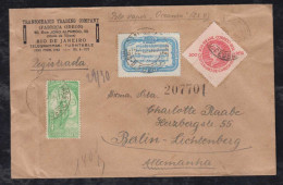 Brazil Brasil 1936 Registered Cover Rio De Janeiro To BERLIN Germany Cinderella - Lettres & Documents