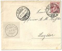 Brieflein  Chur - Luzein  (Rasierklingenstempel CHUR)            1901 - Lettres & Documents