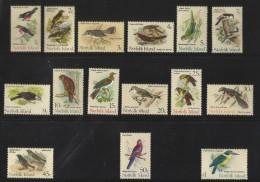 NORFOLK  ISLAND  1970  BIRDS  SET   MNH - Birds