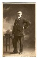 MILITARIA CARTE PHOTO 7/1/1919 MILITAIRE MOUSTACHU - NORD INSCRIT SUR LE COL - 2 Scans - Guerre 1914-18