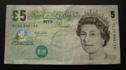 5 FIVE POUNDS ENGLAND GREAT BRITAIN    BANKNOTE - Gran Bretagna