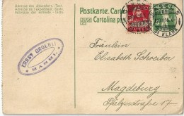 PK 52y  Basel St.Klara - Magdeburg              1916 - Entiers Postaux