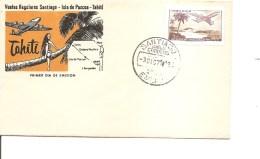 Chili -Avions -(Vol Santiago -Tahiti De 1971 à Voir) - Chile