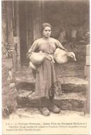 Dépt 24 - LA DORDOGNE PITTORESQUE - Jeune Fille Et Oies Blanches Du Périgord (En Sarladais) - Phot. P. Daudrix, à SARLAT - Frankreich