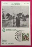 COMUNE DI FORLI'  MEDAGLIA D'ARGENTO DELLA RESISTENZA CARTOLINA ED ANNULLO SPECIALE 40 ANNIVERSARIO LIBERAZIONE 1984 - Eventi