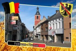 Postcard, Municipalities Of Belgium, Fontaine-l'Eveque, Walloon Region - Landkaarten