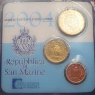 SAN MARINO OFFICIAL SET 3 PCS 2004 UNC - San Marino