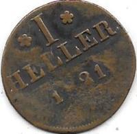 1 HELLER 1821 - Autriche