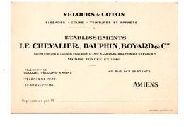 Amiens Carte Publicitaire Dauphin Boyard - Cartes De Visite
