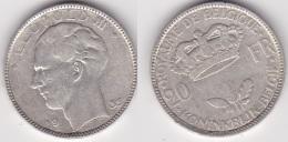 BELGIQUE :  20 FRANCS 1935 Leopold III  Argent (voir Scan) - 1934-1945: Leopold III