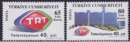 LR18. Turkey, 2008, 40th Anniversary Of Turkish Radio And Television Channel, MNH (**) - 1921-... Republic
