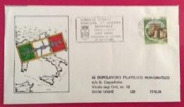 CISTERNA DI LATINA  1984  BUSTA ED ANNULLO SPECIALE RESISTENZA  CADUTI RANGERS GEMELLAGGIO CON FORT SMITH - Eventi