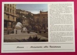 MASSA MONUMENTO ALLA RESISTENZA  CARTOLINA SPECIALE N.V. - Eventi