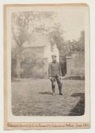 Juin 1915 -Rubempré (Somme) - La Cour Du Bureau Administratif - Adjudant Teillard - Guerre, Militaire