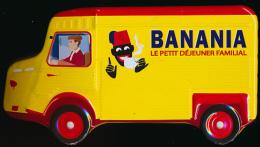 TIRELIRE PUBLICITAIRE BANANIA : Camion Citroën En Tole, Longueur 17,5 Cm, Hauteur 9,5 Cm, Largeur 9 Cm... - Boxes