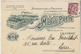 Vilvoorde Vilvorde Manufacture Pinceaux Peinture  Michel Poels  Rue De Flandre 93 1938 Format 15/10 Vers Lierre - Vilvoorde