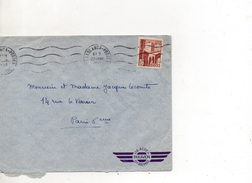 MAROC ENVELOPPE DU 22 JANVIER 1952 DE CASABLANCA POUR PARIS - Marokko (1891-1956)