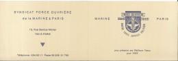 Calendrier - Force Ouvrière - Progrès Liberté - Contre Toute Emprise Politique - Marine - Paris - 1983 - Calendriers
