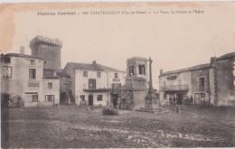 CHATEAUGAY ( Puy De Dome ) - La Place, Le Donjon Et L´Eglise. Vendue En L´état. - Altri Comuni