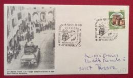 S.GIOVANNI IN PERSICETO   BUSTA ED ANNULLO  SPECIALE  40 ANN. RESISTENZA PERSICETANA 1984 - Eventi