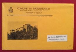 COMUNE DI MONTEFIORINO  DECORATO DI MEDAGLIA  D'ORO AL VALORE MILITARE  BUSTA DEL MUNICIPIO - Eventi