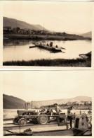 ALLEMAGNE - TRIER TREVES - BAC BATEAU - PASSAGE DE LA MOSELLE - LOT DE 2 PHOTOS 10 X 7.5 CM - Bateaux