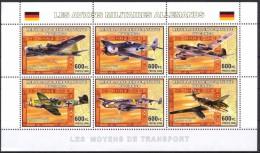 R. D. Du Congo 2006 - Avions Militaires Allemands 2e Guerre Mondiale - BF 6 Val ** Neufs // Mnh - République Démocratique Du Congo (1997 -...)
