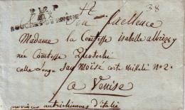 BOUCHES DU RHONE - P.12.P / AIX / BOUCHES DU RHONE -SANS TEXTE NI DATE - CACHET UTILISE DE 1808 A 1818 - LETTRE POUR VEN - 1801-1848: Precursors XIX
