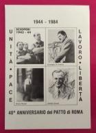 MODENA PER LA RESISTENZA  CARTOLINA ED  ANNULLO SPECIALE SC0PERI E PATTO DI ROMA 1944 - 1984 - Eventi