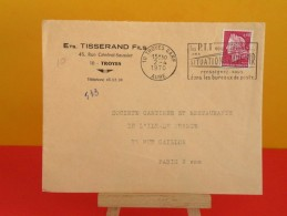 Flamme - 10 Aube, Troyes - Situations D'avenir - 2.4.1970 - Ets Tisserand Fils - Marcophilie (Lettres)