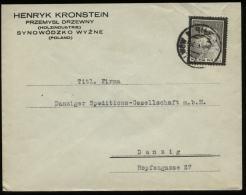 S3064 Polen Firmen Briefumschlag : Gebraucht Synowodzko Wyzne - Danzig 1935, Bedarfserhaltung. - 1919-1939 Republic