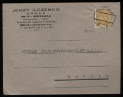 S3065 Polen Firmen Briefumschlag : Gebraucht Rowne - Danzig 1935, Bedarfserhaltung. - 1919-1939 Republic