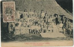 Oceanie Française  Iles Sous Le Vent De Tahiti Ecole Indigene Photo Faite En 1895 - Polinesia Francese
