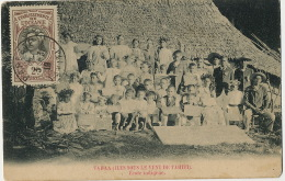 Oceanie Française  Iles Sous Le Vent De Tahiti Ecole Indigene Photo Faite En 1895 - French Polynesia