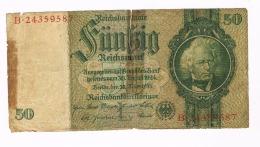 GERMANIA (GERMANY) -  TERZO REICH:     50 REICHSMARK SERIE B 30.03.1933 - [ 4] 1933-1945 : Troisième Reich