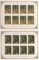 URSS RUSSIE 1986  YT N° 5316 à 5320   NEUFS ** 5 BLOCS FEUILLETS  BF TABLEAUX PEINTRES - Blokken & Velletjes