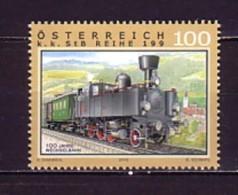 2010 Autriche Neuf ** N° 2722 Transport : Train : Locomotive à Vapeur - 2001-10 Neufs