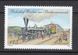 2013 Autriche Neuf ** N° 2883 Transport : Train : Locomotive à Vapeur : Gare De Baden - 1945-.... 2ème République