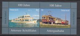 2013 Autriche Neuf ** N° 2895/96 Transport : Bateau : Train - 1945-.... 2ème République
